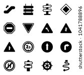 solid vector icon set  ... | Shutterstock .eps vector #1041788896
