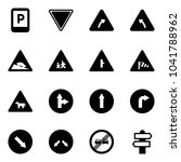 solid vector icon set   parking ... | Shutterstock .eps vector #1041788962