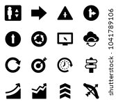 solid vector icon set  ... | Shutterstock .eps vector #1041789106