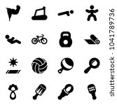 solid vector icon set   power... | Shutterstock .eps vector #1041789736