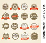 shopping labels collection.... | Shutterstock .eps vector #104179145