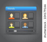 friends collected on friend... | Shutterstock .eps vector #104179166