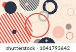 abstract modern geometric... | Shutterstock .eps vector #1041793642