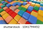 cubes background. 3d rendering | Shutterstock . vector #1041794452