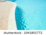 beautiful swimming pool at the... | Shutterstock . vector #1041801772