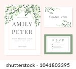 wedding invitation card green... | Shutterstock .eps vector #1041803395