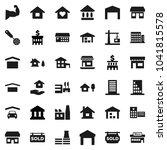 flat vector icon set   house... | Shutterstock .eps vector #1041815578