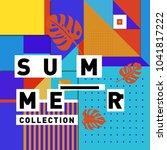 vector geometric memphis summer ... | Shutterstock .eps vector #1041817222