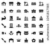 flat vector icon set   house... | Shutterstock .eps vector #1041817585