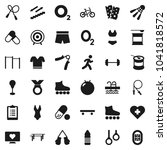 flat vector icon set   barbell... | Shutterstock .eps vector #1041818572