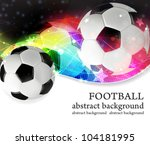 soccer ball on a transparent... | Shutterstock .eps vector #104181995