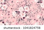 seamless pattern with spring... | Shutterstock . vector #1041824758