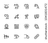 line icon set related to...