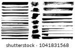 set of different grunge brush... | Shutterstock .eps vector #1041831568
