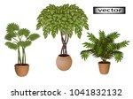 vector. indoor green plants on... | Shutterstock .eps vector #1041832132