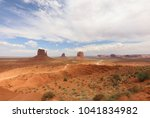 panorama with west mitten butte ... | Shutterstock . vector #1041834982