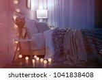 cozy room interior with... | Shutterstock . vector #1041838408