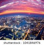 london city sunset  mystic...   Shutterstock . vector #1041846976