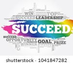 succeed word cloud collage ... | Shutterstock .eps vector #1041847282
