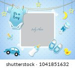 baby shower set. invitation... | Shutterstock .eps vector #1041851632