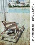 old photo beautiful seashore... | Shutterstock . vector #1041852442