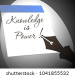 knowledge is power. recording... | Shutterstock .eps vector #1041855532