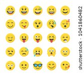 smiley flat icons collection | Shutterstock .eps vector #1041860482