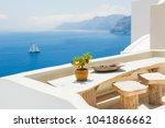 white architecture on santorini ... | Shutterstock . vector #1041866662