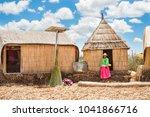 titicaca lake  puno  peru  ... | Shutterstock . vector #1041866716