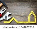 house renovation construction... | Shutterstock . vector #1041867316