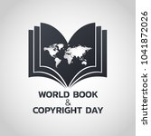 world book and copyright day... | Shutterstock .eps vector #1041872026