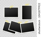 set of template photo frames... | Shutterstock . vector #1041879922
