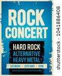 vector illustration rock... | Shutterstock .eps vector #1041886408