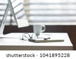 comfortable work table in office | Shutterstock . vector #1041895228