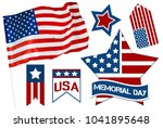memorial day  holiday | Shutterstock . vector #1041895648