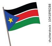 flag of south sudan  south... | Shutterstock .eps vector #1041898288