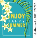 vector design of happy enjoy... | Shutterstock .eps vector #1041899242