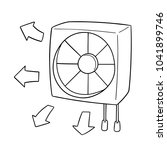 vector of ventilating fan | Shutterstock .eps vector #1041899746