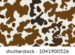 cow skin in brown and white... | Shutterstock . vector #1041900526