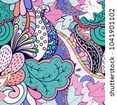 tracery seamless pattern.... | Shutterstock .eps vector #1041901102