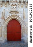 Church Door Entrance With Wood...