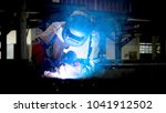 welding with sparks by process... | Shutterstock . vector #1041912502