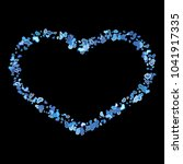 colorful blue hearts frame on... | Shutterstock .eps vector #1041917335
