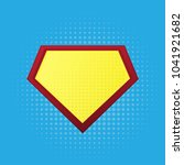 blank superhero badge | Shutterstock . vector #1041921682