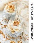 chia pudding parfait  layered... | Shutterstock . vector #1041926176