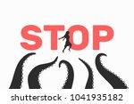 harassment vector illustration  ... | Shutterstock .eps vector #1041935182