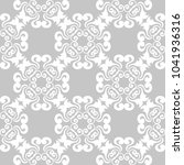 gray and white floral ornament. ... | Shutterstock .eps vector #1041936316