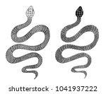 snake tattoo style vector... | Shutterstock .eps vector #1041937222