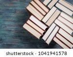 book stacking open book... | Shutterstock . vector #1041941578
