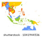 vector map of southeast asia. | Shutterstock .eps vector #1041944536